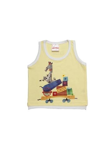 Madagascar3 Boys Yellow Innerwear Vest