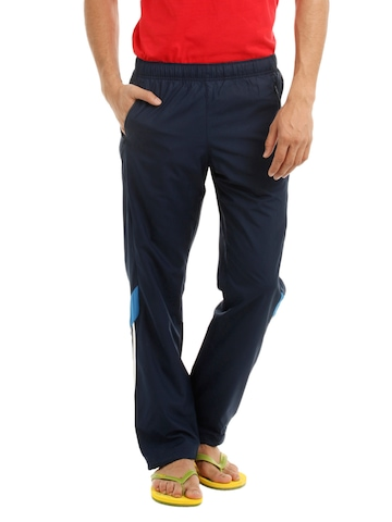 Adidas Men Navy Blue Track Pants
