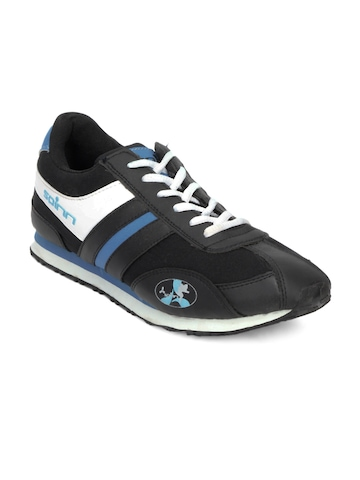 Spinn Men Swift Black Sports Shoes