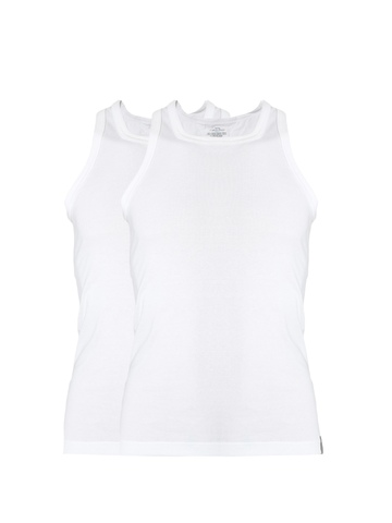 Calvin Klein Men White Pack of 2 Innerwear Vests