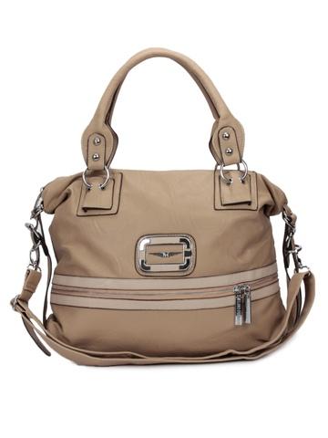 Lino Perros Women Leatherette Beige Handbag