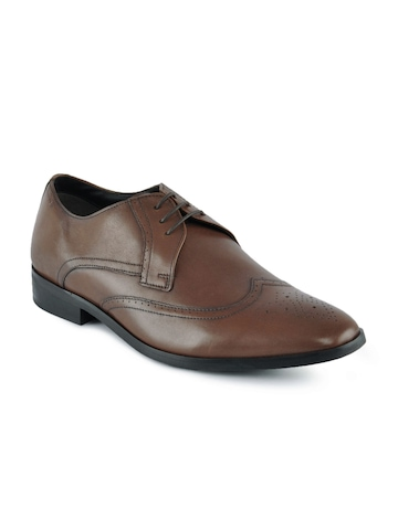 Clarks Men Leather Brown Formal Shoes