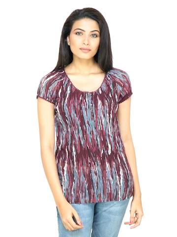 s.Oliver Women Printed Red Top