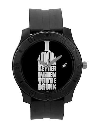 Fastrack Men Black Dial Watch 3062pp02b