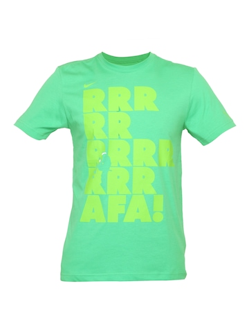 Nike Men Printed Green T-shirt
