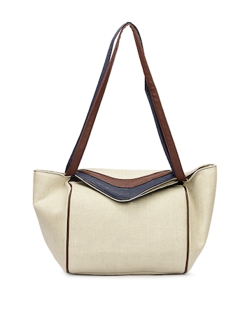 French Connection Women Beige Handbag