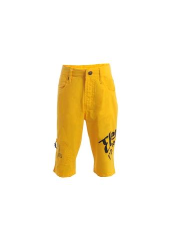 Gini and Jony Boys Yellow 3/4 Length Pants