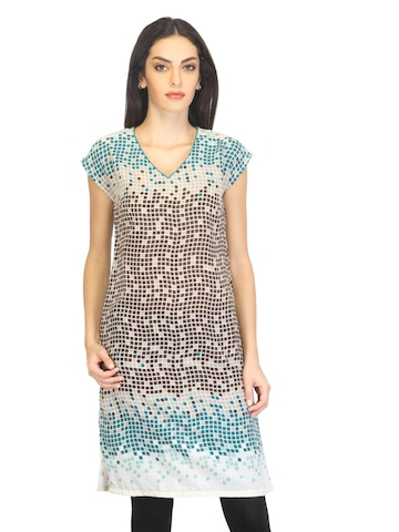W Women Printed Brown Kurta