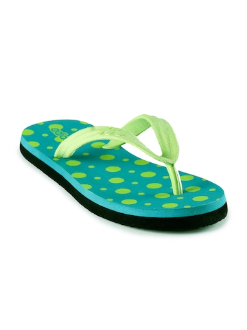 Adidas Women polka Blue Flip Flops