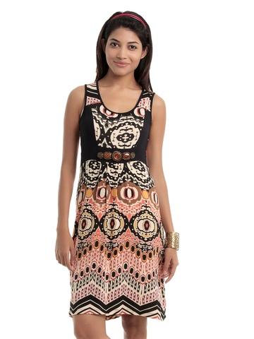 109F Women Multi Coloured Dress