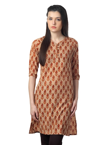Mother Earth Women Beige Kurta