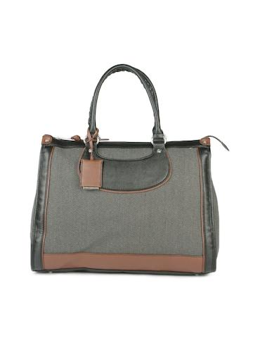 French Connection Women Grey & Brown Handbag