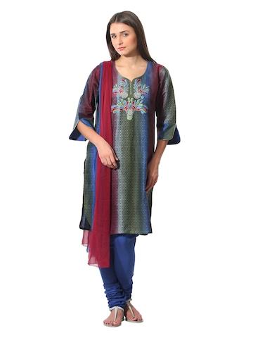 Aneri Women Multi Coloured Salwar Suit