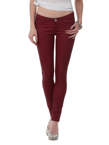 Pepe Jeans Women Dark Red Jeggings