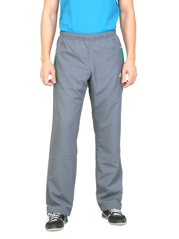 Adidas Men Solid Grey Track Pants