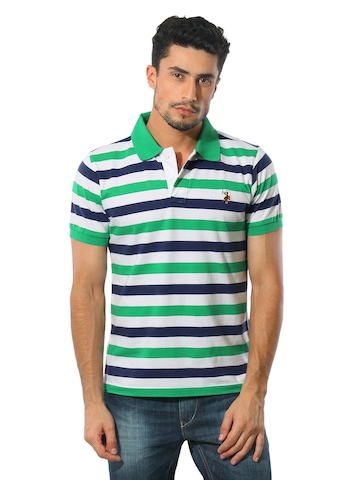 U.S.Polo Assn. Men Green Polo T-shirt