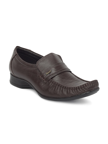 Bata Men Mocassino Brown Formal Shoes
