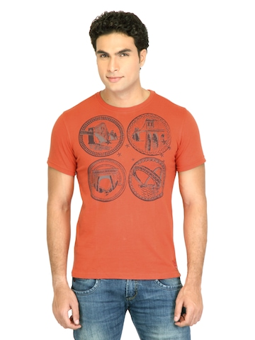 Facit Men Smart Orange Tshirt
