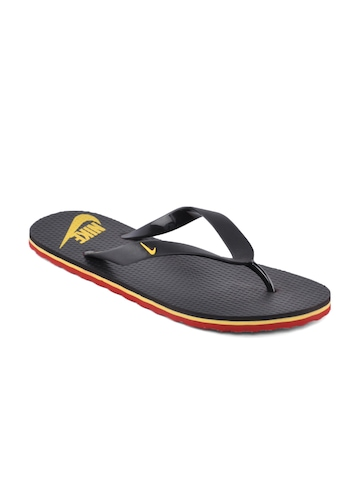 Nike Men Aquahype Black Flip Flops