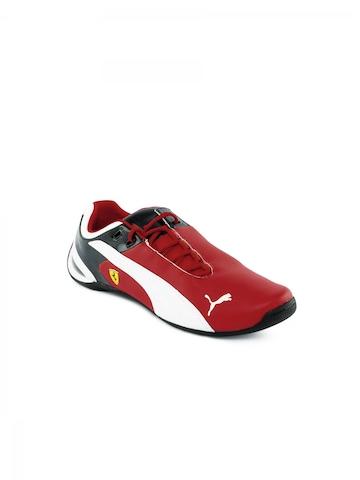 Puma Kids Unisex Future Cat Red Casual Shoes