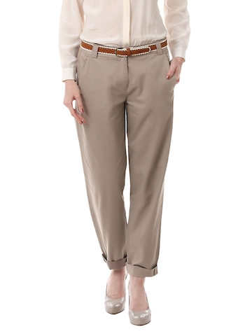 French Connection Women Light Brown Trousers
