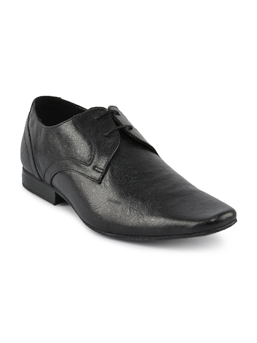 Red Tape Men Federer Black Formal Shoes