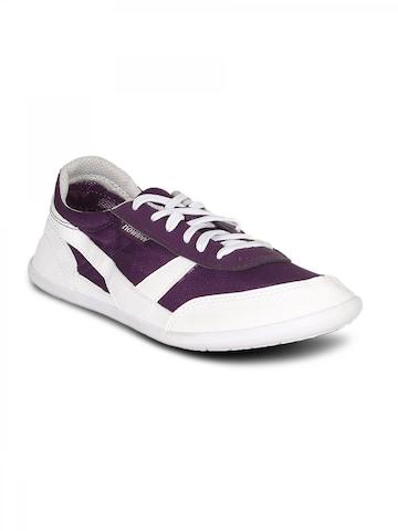 Newfeel Unisex Purple White Shoes