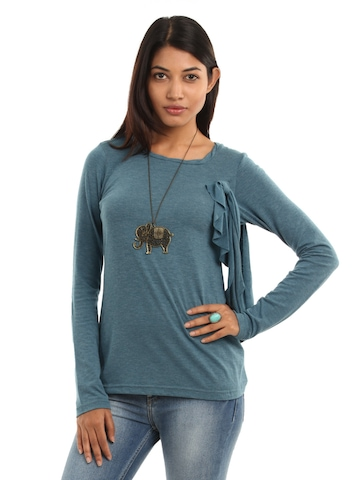 AND by Anita Dongre Women Blue Top