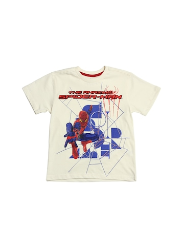 The Amazing Spiderman Boys Off White T-Shirt
