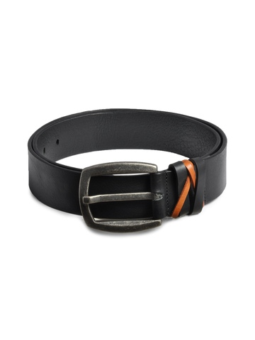 United Colors of Benetton Men Solid Black Belts