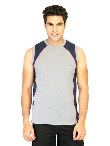 Hanes Men Sleeveless Crew Grey Innerwear T-shirt
