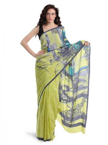 Satya Paul Yellow Saree