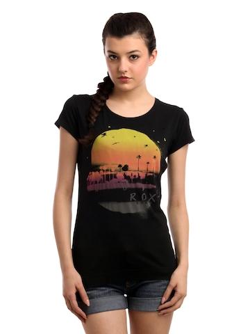 Roxy Women Black T-shirt
