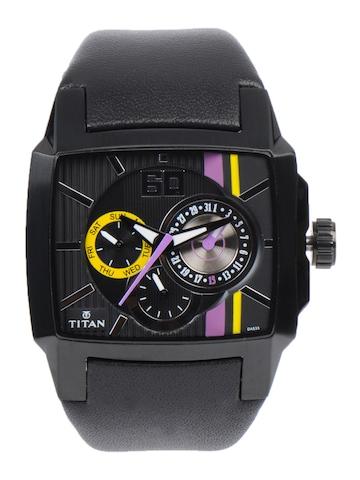 Titan Men Chronograph Black Dial Watch