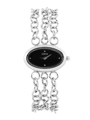 Maxima Women Black Dial Watch