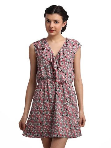 Remanika Women Printed Pink Dress
