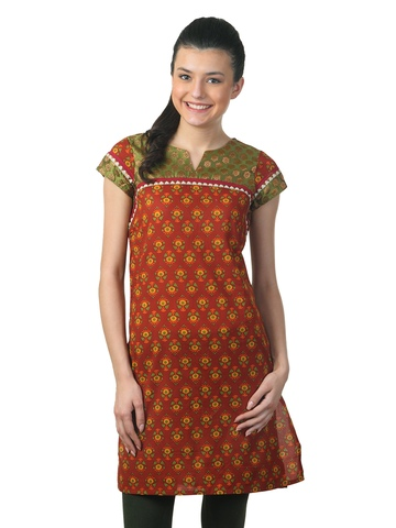 Mother Earth Women Red Kurta
