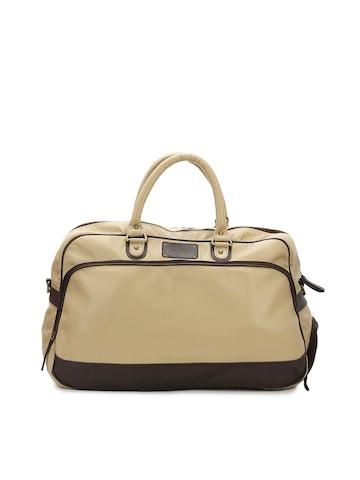 Paridhan Women Beige Duffle Bag