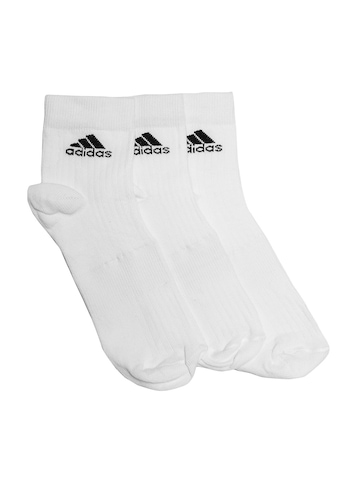Adidas Unisex White Pack of 3 Ankle Socks