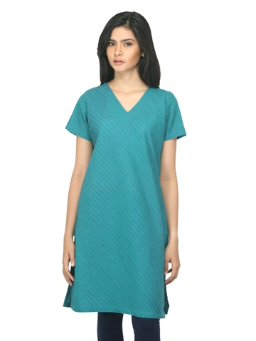 Fabindia Women Blue Kurta