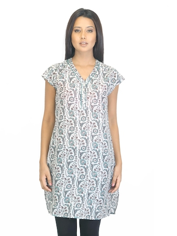 W Women White Printed Kurta