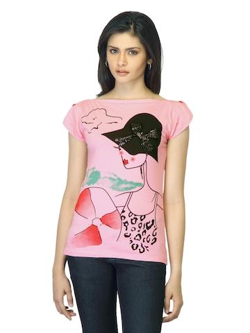 Jealous 21 Women Printed Pink Top