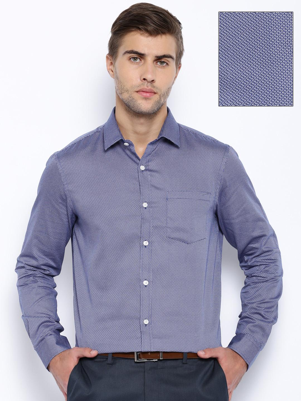 Buy Arrow Navy Printed Slim Fit Formal Shirt - Apparel For Men