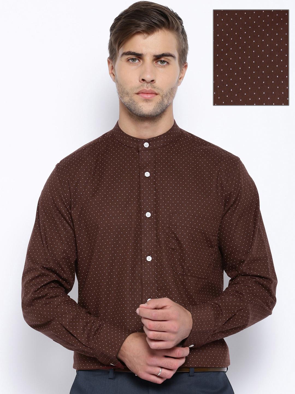 Buy Arrow Brown Printed Formal Shirt - Apparel For Men