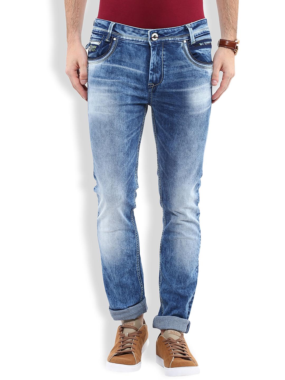 Buy Mufti Blue Super Slim Jeans - Jeans for Men | Myntra