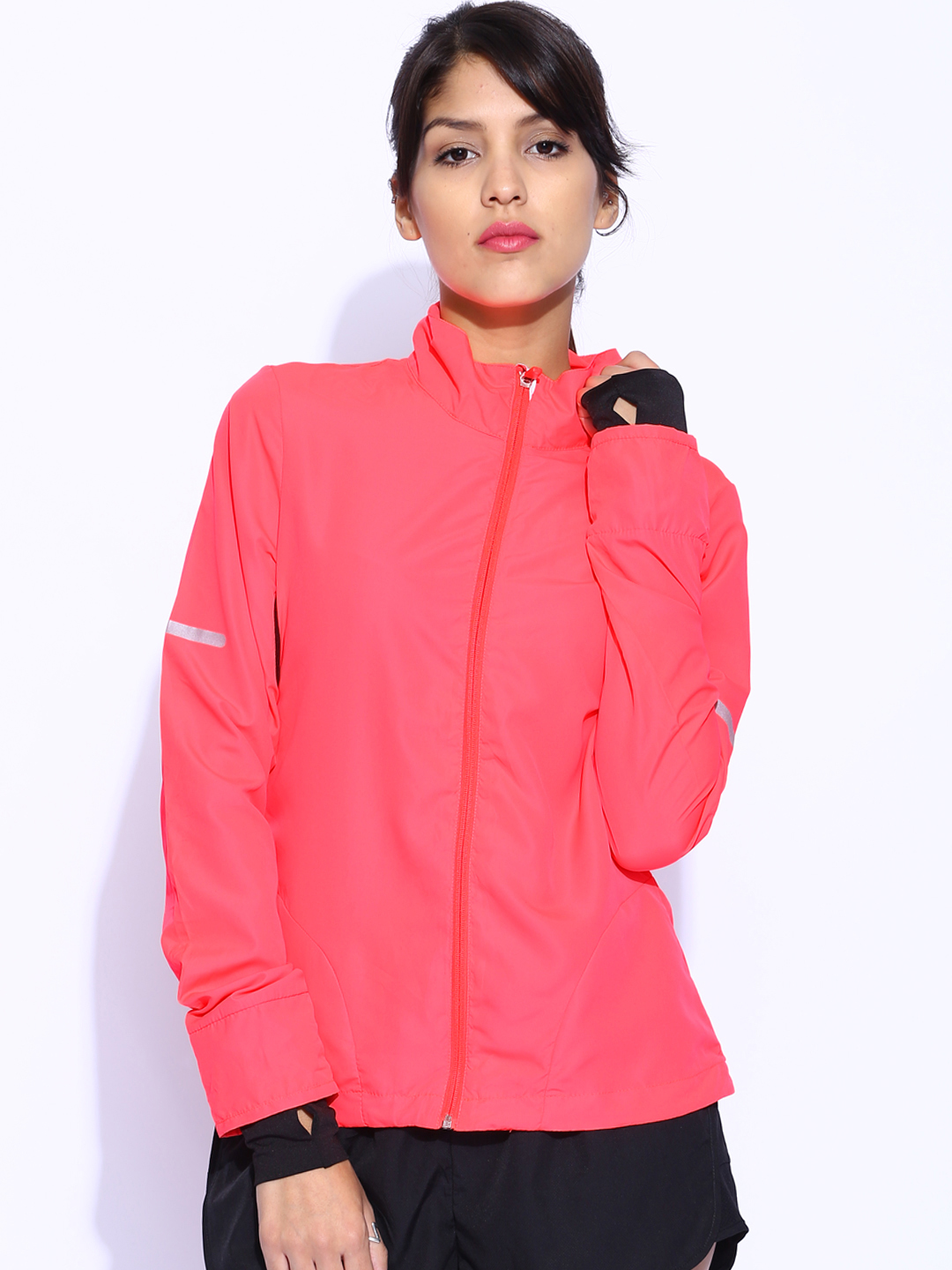 Buy ONLY Fluorescent Pink Jacket - Jackets for Women | Myntra