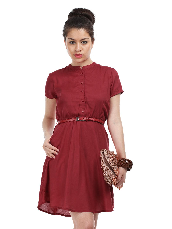Unique Myntra Van Heusen Woman Blue A-Line Dress 709171 | Buy Myntra Van Heusen Woman Dresses At Best ...