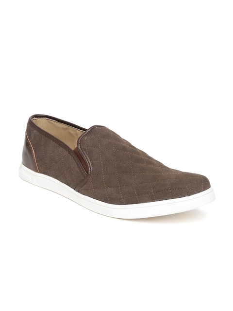 Knotty Derby by Arden Men Brown Quilted Casual Shoes