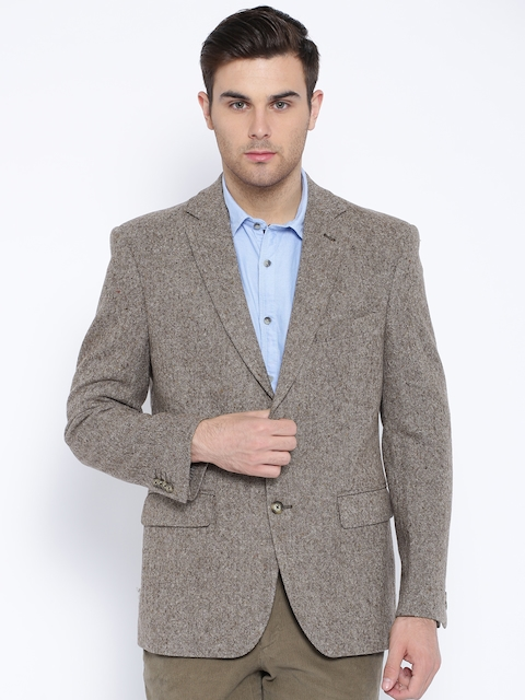 Theme Brown Woollen Blazer