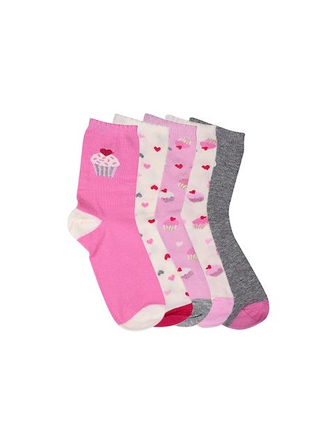 mothercare Girls Set of 5 Socks